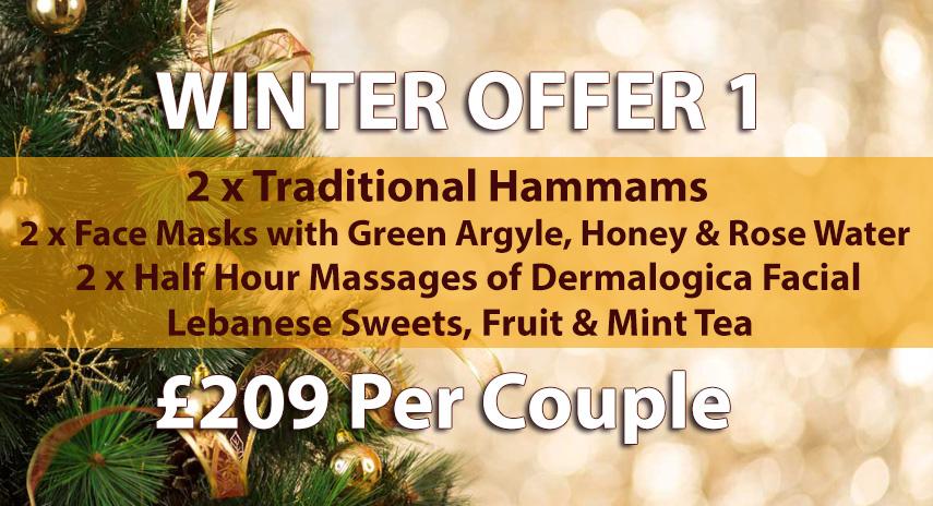 Arabian Hammam in London Winter Offer 1